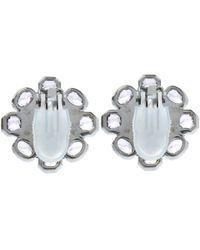 Stephen Dweck | Black Silver Moonstone Flower Stud Earrings | Lyst