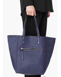 Mango | Blue Pebbled Shopper Bag | Lyst