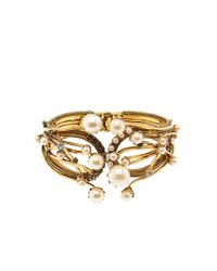 Erickson Beamon | Metallic Stratosphere Crystal & Faux-Pearl Cuff | Lyst