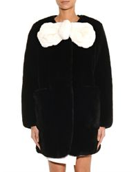 Marc Jacobs - Black And White Fur Coat - Lyst