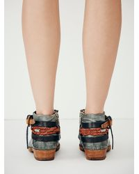 Free People | Blue Triumph Distressed Boot | Lyst