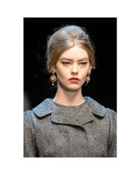 Dolce & Gabbana - Metallic Goldplated Clipon Earrings - Lyst