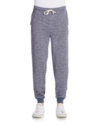Threads For Thought - Blue Heathered Regular-fit Sweatpants for Men - Lyst