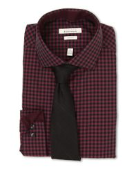 Perry Ellis - Purple Slim Fit Gingham Shirt for Men - Lyst