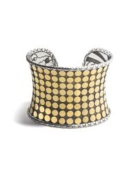 John Hardy - Metallic Dot Wide Cuff - Lyst