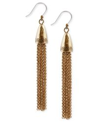 Lucky Brand | Metallic Gold-tone Dangle Earrings | Lyst