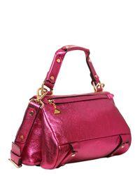 Golden Lane - Pink Small Duo Metallic Leather Satchel - Lyst