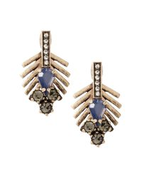 Banana Republic | Metallic Feather Drop Earring | Lyst