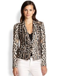 Just Cavalli Natural Leopard-Print Jacket