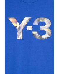 Y-3 - Blue Rainbow Logo T-shirt for Men - Lyst