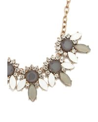 Forever 21 - Gray Rhinestone Petal Statement Necklace - Lyst