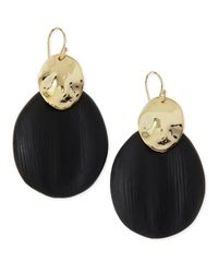 Alexis Bittar - Black Liquid Chip Wire Lucite Earrings (Made To Order) - Lyst