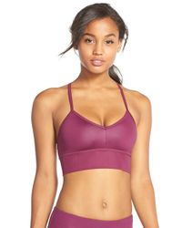 Alo Yoga - Blue 'aria' Cross-back Sports Bra - Lyst