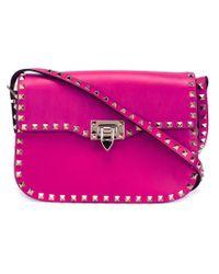 Valentino - Pink 'rockstud' Shoulder Bag - Lyst