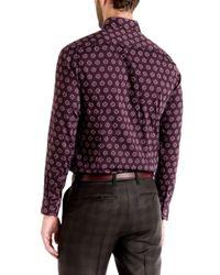Ted Baker | Red Beastie Spot Print Regular Fit Button Down Shirt for Men | Lyst