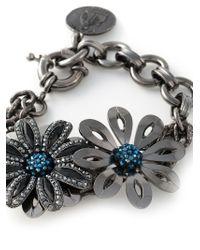 Lanvin | Blue Flower Bracelet | Lyst