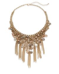 Saks Fifth Avenue | Metallic Embellished Fringe Statement Necklace/goldtone | Lyst