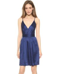 One By - Blue Babs Bibb Mini Dress - Lyst
