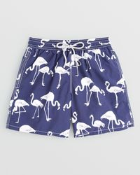 Vilebrequin - Blue Moorea Flamingo Swim Trunks for Men - Lyst