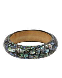 Robert Lee Morris Gray Abalone Shell Bangle Bracelet