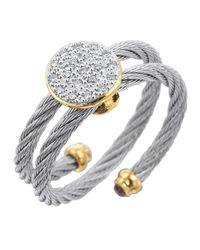Alor - Metallic Wraparound Cable Diamond Ring - Lyst