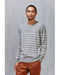 Vans | Gray Livingston Stripe Sweater for Men | Lyst