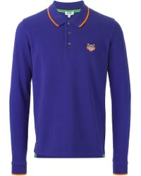 KENZO - Blue 'tiger' Polo Shirt for Men - Lyst