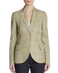 Akris | Green Plaid Check Twobutton Blazer | Lyst