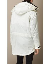 Burberry - White Two-Layer Showerproof Parka for Men - Lyst