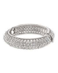Kenneth Jay Lane | Multicolor Crystal Pave' Bangle | Lyst