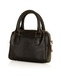 TOPSHOP | Black Mini Double Handle Bag | Lyst