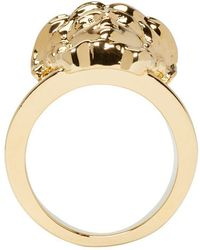 Versace - Metallic Gold Medusa Ring - Lyst