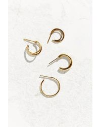 Urban Outfitters | Metallic Midsummer Single Hoop Set | Lyst