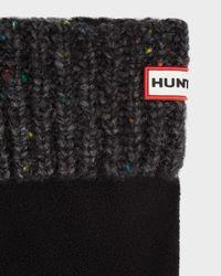 HUNTER - Black Granite Fleck Boot Socks for Men - Lyst