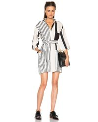 Acne Studios | Black 'cabell' Stripe Shirtdress | Lyst