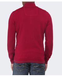 BOSS Green | Red Funnel Neck Zime Jumper for Men | Lyst