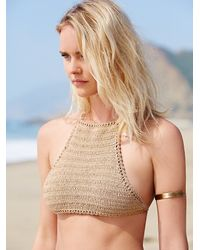 Free People | Natural She Made Me Womens Cheeky Halter Top | Lyst