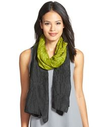 Eileen Fisher | Green Ombre Silk Scarf | Lyst