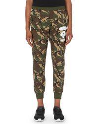 Aape | Logo-print Jersey Jogging Bottoms, Women's, Size: L, Green Camo | Lyst