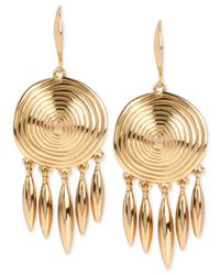 Robert Lee Morris | Metallic Bronze-tone Spiral Drop Earrings | Lyst