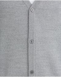 Zara | Gray Merino Cardigan for Men | Lyst