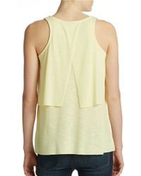 Lord & Taylor | Yellow Tiered Tank | Lyst
