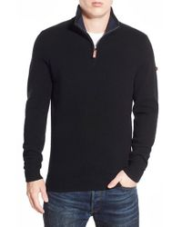 Ben Sherman | Black Regular Fit Half Zip Sweater for Men | Lyst