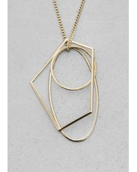 & Other Stories | Metallic Geometric Metal Necklace | Lyst