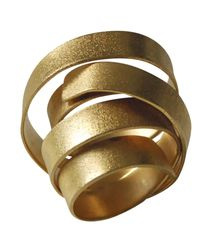 Linnie Mclarty - Metallic Aurum Gold Plated Ring - Lyst