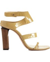 CoSTUME NATIONAL - Brown Halter Strap Sandal - Lyst
