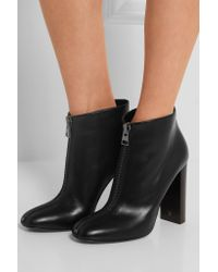 Tom Ford - Black Zipped Leather Ankle Boots - Lyst