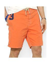 Ralph Lauren - Orange Polo Sanibel Big Pony Swim Trunks for Men - Lyst