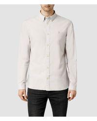 AllSaints - Gray Garrette Shirt for Men - Lyst