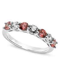 Arabella | Metallic Pink And White Swarovski Zirconia Ring (1-1/5 Ct. T.w.) | Lyst